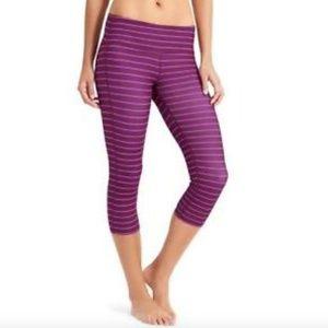 Athleta Purple Chaturanga Crop Leggings